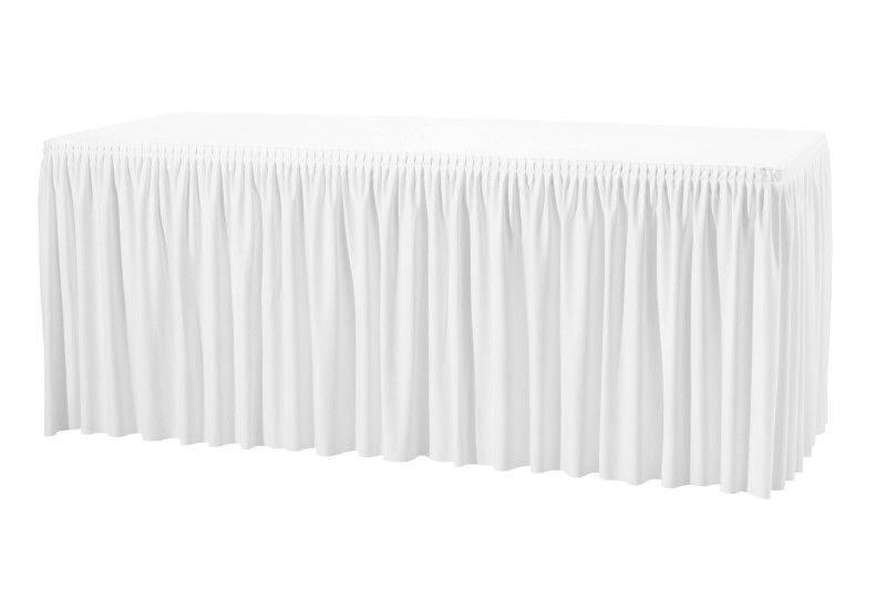 Юбка на стол белая